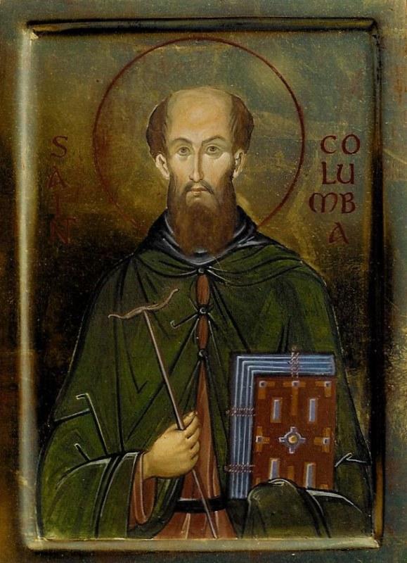 24 св.Колумбан Люксейский (Ирландия) совр. икона