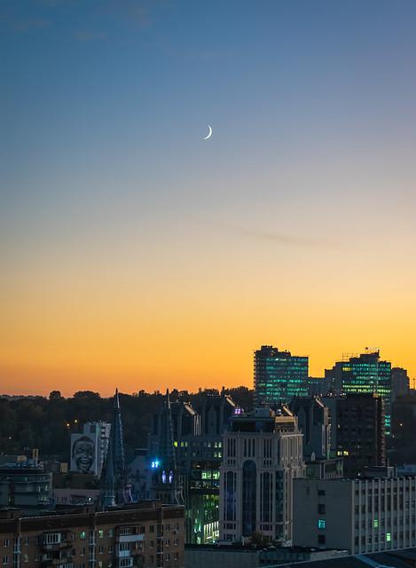 First October sunset