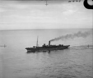 HMS Atmah sailing in the North Atlantic.
