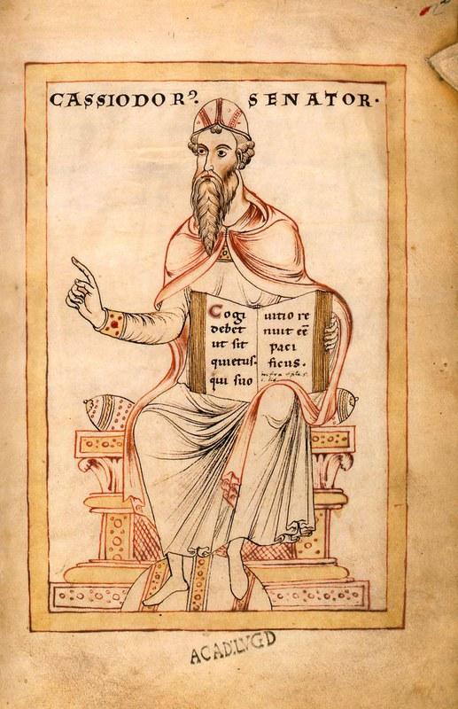 08 Кассиодор  рукопись Gesta Theodorici XII в аббатство Фульда
