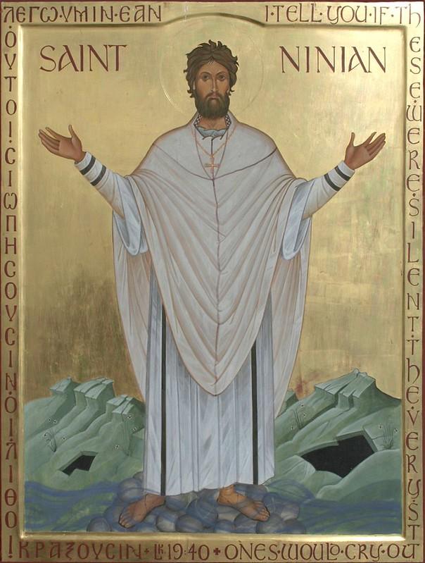 21 св.Ниниан Уитхорнский, апостол пиктов совр икона