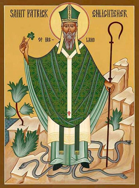 25 св.Патрик Ирландский совр икона