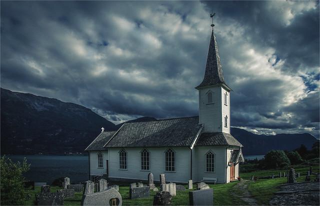 Little white wooden church