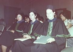 Lucrecia Selle Sánchez, Norma Alfaro (GUT) y María Eugenia Romo (Chile) de la 4a Promoción de Nutricionistas INCAP