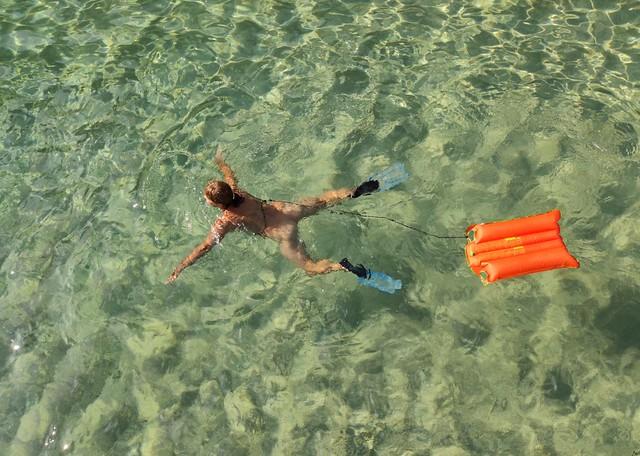 Happy swimming