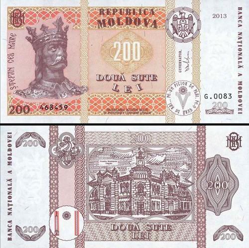 200 Lei Moldavsko 2013, P16d