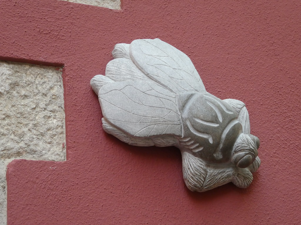 One of the mythical flies adorning walls in Gironna's old town