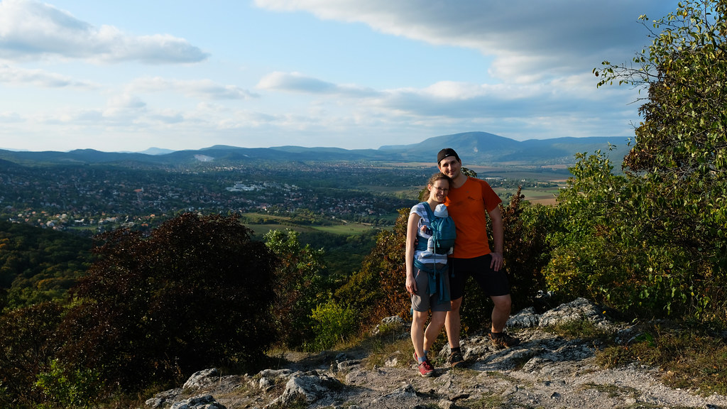 Our first hike eith him in the Buda Hills, Hungary