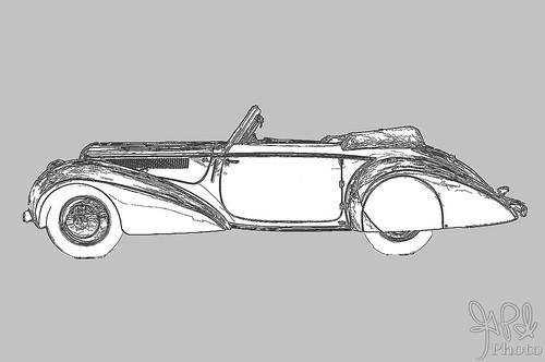 1948 Delahaye 135M Cabriolet by Pennock at Amelia Island 2010