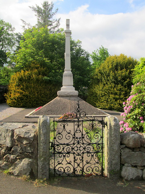 Auchencairn War Memorial Side View