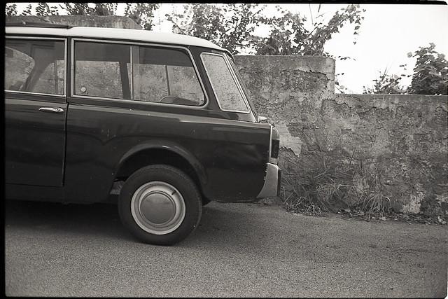(Rear of an Autobianchi Bianchina - Procida Edition)
