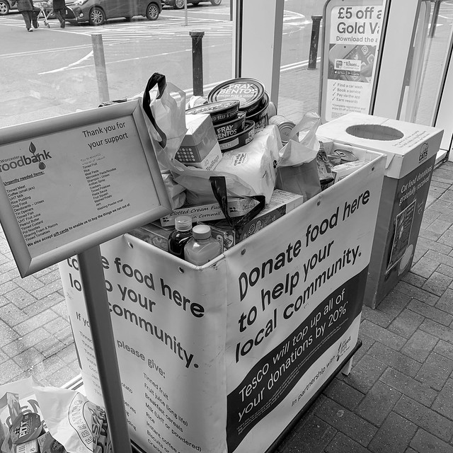 Overflowing food donations