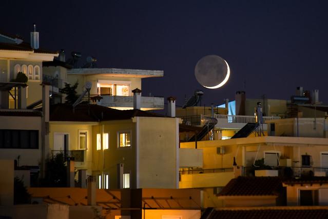 Alimos - moonset #2