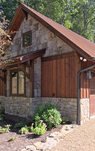 Rustic Veneer Stone Exterior Cabin Home Outdoor Stone Fireplace Fieldstone Highland Scotch Webwall