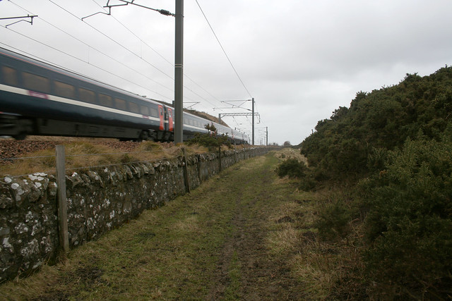 A train passes near Berwick-upon-Tweed