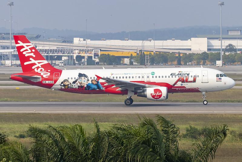 9M-AHR A320 Air Asia  logojet Ejen Ali MATA Spy Jet 11-09-19 KUL maarten-sr