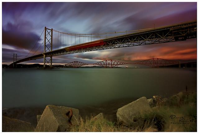 Forth Bridges at Dusk