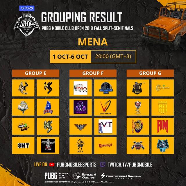 MENA Groupings