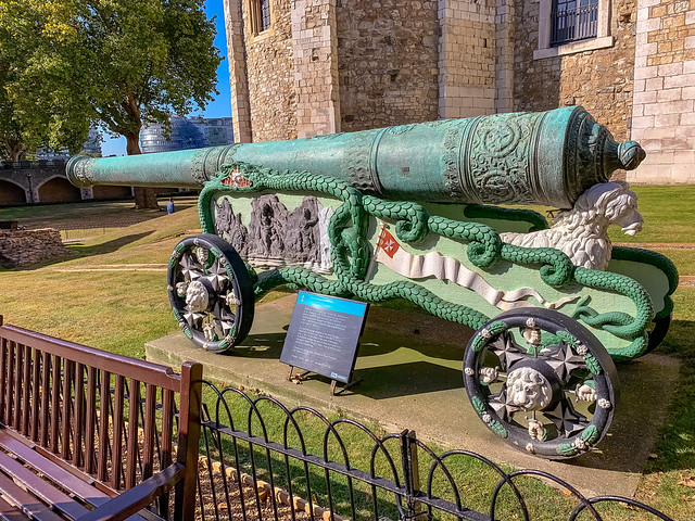 Bronze 24-pounder Cannon at the Tower of London