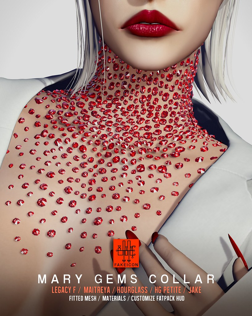 mary gems collar @ Fameshed