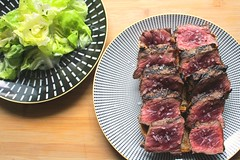 "A RARE OCCASION – ""ENTRECÔTE SAIGNANT, AVEC SALADE VERTE À LA FRANÇAISE"" (RARE STRIP STEAK WITH FRENCH STYLE GREEN SALAD)"