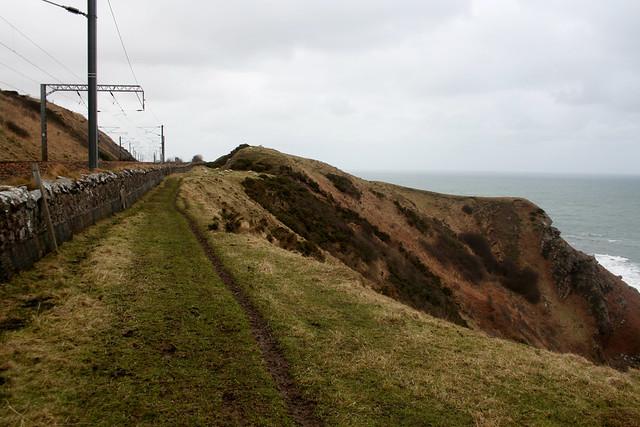 The Berwickshire Coast Path near Hilton Bay