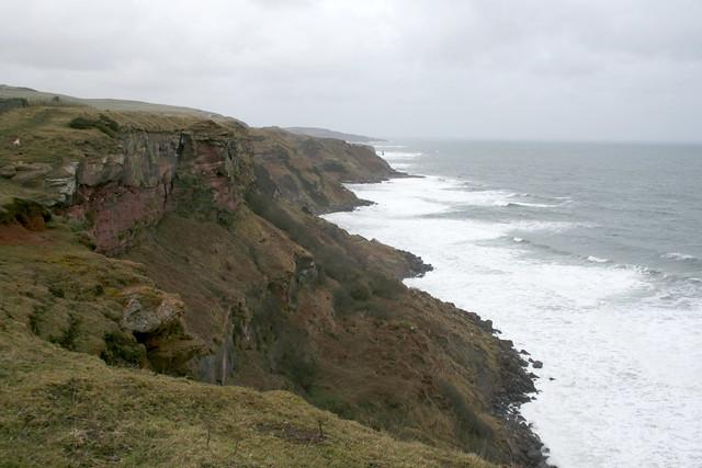 The Berwickshire Coast Path just north of the Scottish border