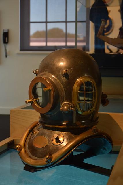 Old scuba helmet