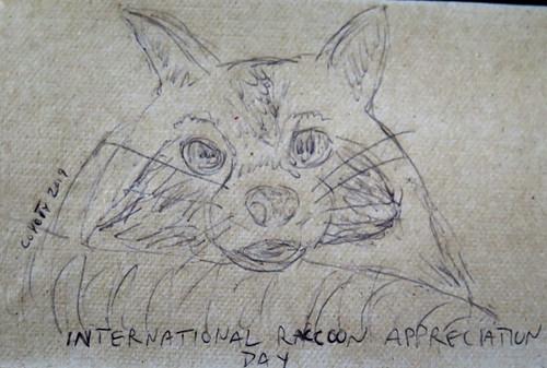 Inktober 1, 2019: International Raccoon Appreciation Day