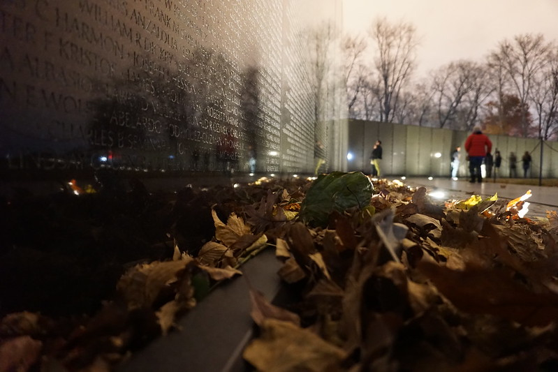 Vietnam Veterans Memorial in Washington, DC, Nov. 2018