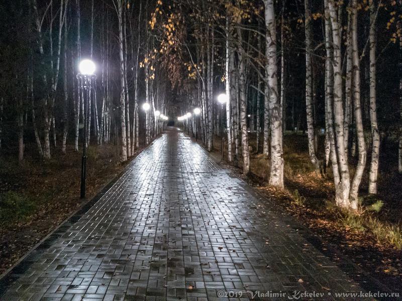 Парк Ветеранов.  Ночь