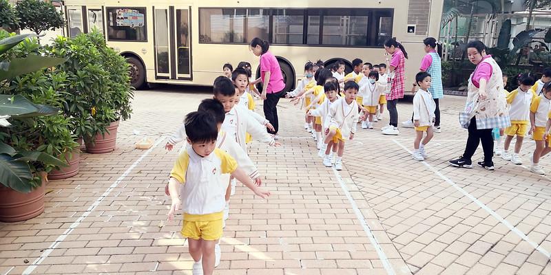 望級(K2)與愛級(K3)往香港信義會明道小學進行體能課