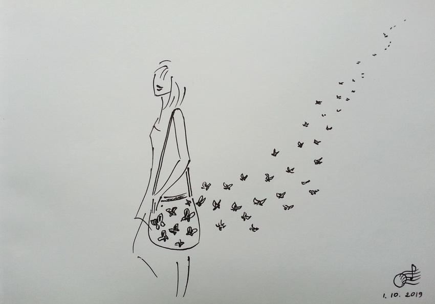 Идти нужно так, чтобы за твоей спиной оставались бабочки