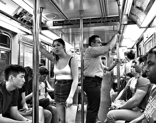 95 degrees on the New York Subway
