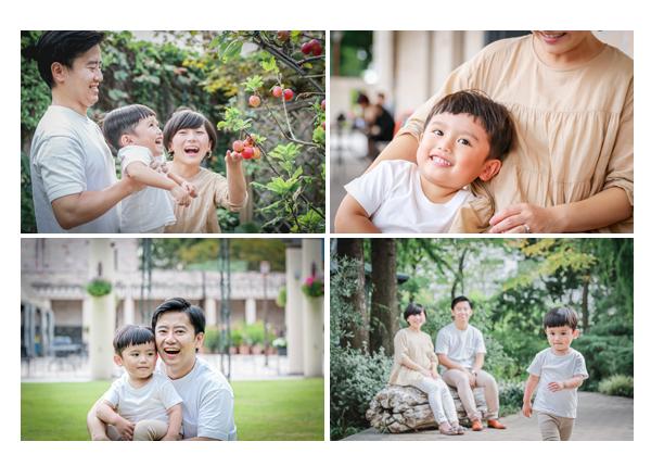 フラリエで家族写真の出張撮影 名古屋市