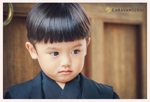 七五三 3歳の男の子のヘアスタイル