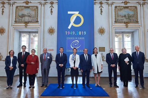 Rencontre du Président du Congrès, Anders Knape avec le Président de la République française, Emmanuel Macron