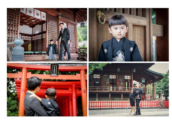 城山八幡宮で七五三 名古屋市 3歳の男の子 ご祈祷へ
