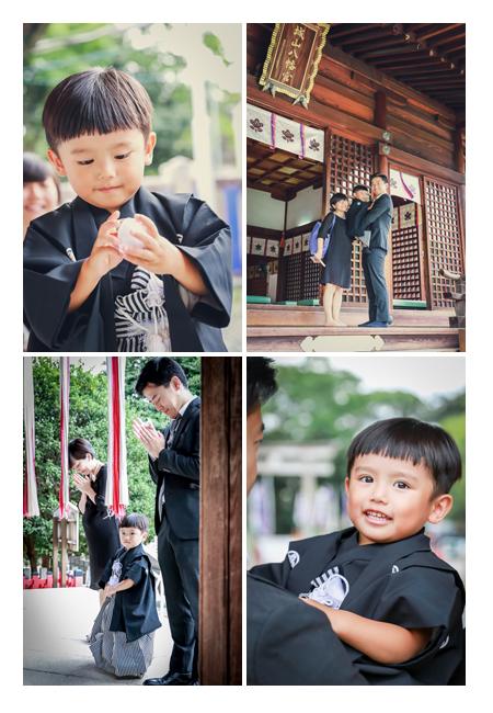 城山八幡宮で七五三 名古屋市 3歳の男の子 お参り ご祈祷