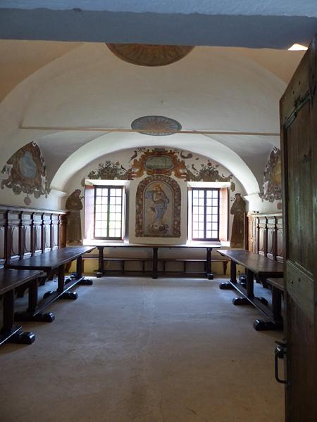le réfectoire du monastère de saorge