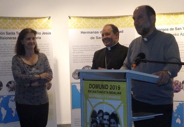 Acto de apertura de la Exposición misionera 100 años de compromiso misionero