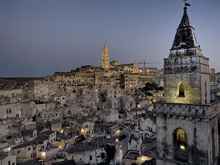 Matera blue hour hdr