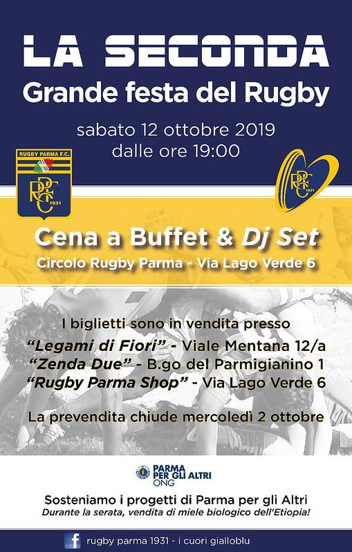 Locandina Seconda Grande Festa del Rugby
