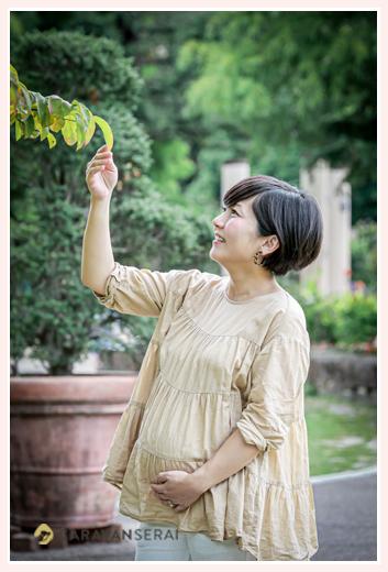 公園でマタニティフォト♡妊娠8か月