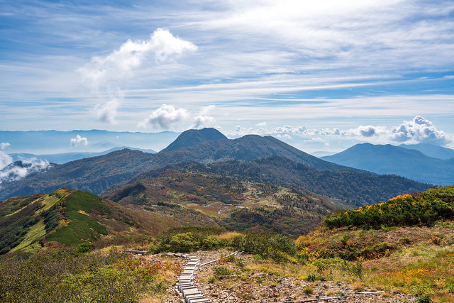 妙高山を眺めながら下山