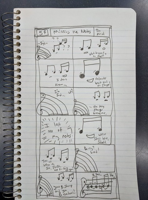 Missing the Notes comic