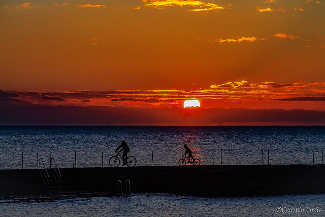 Tramonto in bici / Sunset on a bike