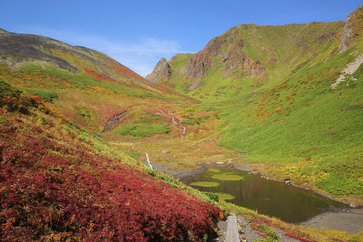 紅葉のムーミン谷と駒池