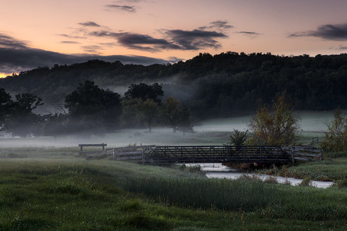 canonef2470mmf28l canoneos5dmarkiii background bridge country fog foggy horizontal landscape lodi midwest nature nopeople outdoors rural stream summer trees wallpaper wisconsin