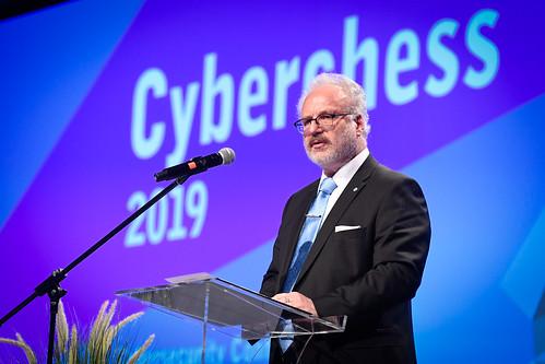 """Valsts prezidents Egils Levits piedalās kiberdrošības konferencē """"Kiberšahs 2019"""""""